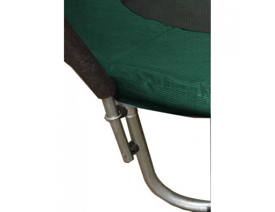 Батут Atleto 312 см внутренней сеткой зеленый
