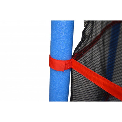 Батут Atleto 140 см красный с внутренней сеткой New