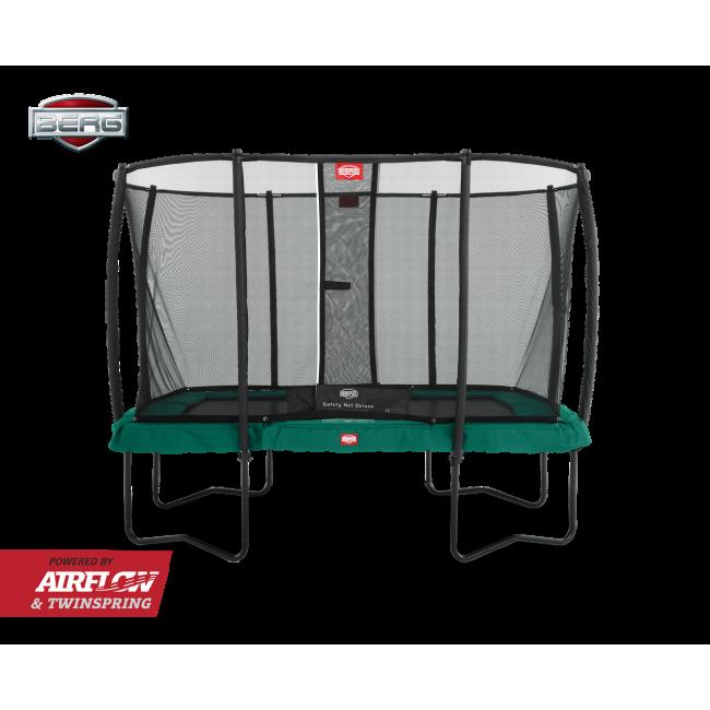 Батут BERG EazyFit Regular Green с защитной сеткой Safety Net Deluxe EazyFit