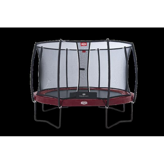 Батут BERG Elite+ Regular Red 430 с защитной сеткой Safety Net T-series 430