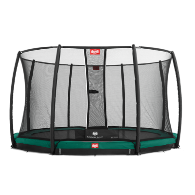 Батут BERG Elite+ InGround Green 330 с защитной сеткой Safety Net T-series 330