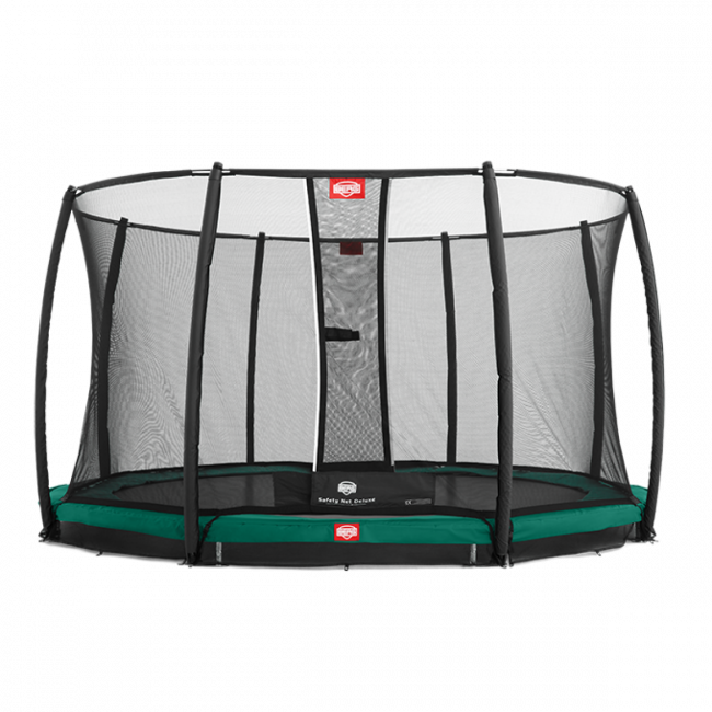 Батут BERG Elite+ InGround Green 430 с защитной сеткой Safety Net T-series 430