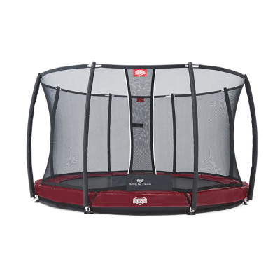 Батут BERG Elite+ InGround Green 380 с защитной сеткой Safety Net T-series 380