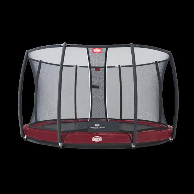 Батут BERG Elite+ InGround Red 430 с защитной сеткой Safety Net T-series 430