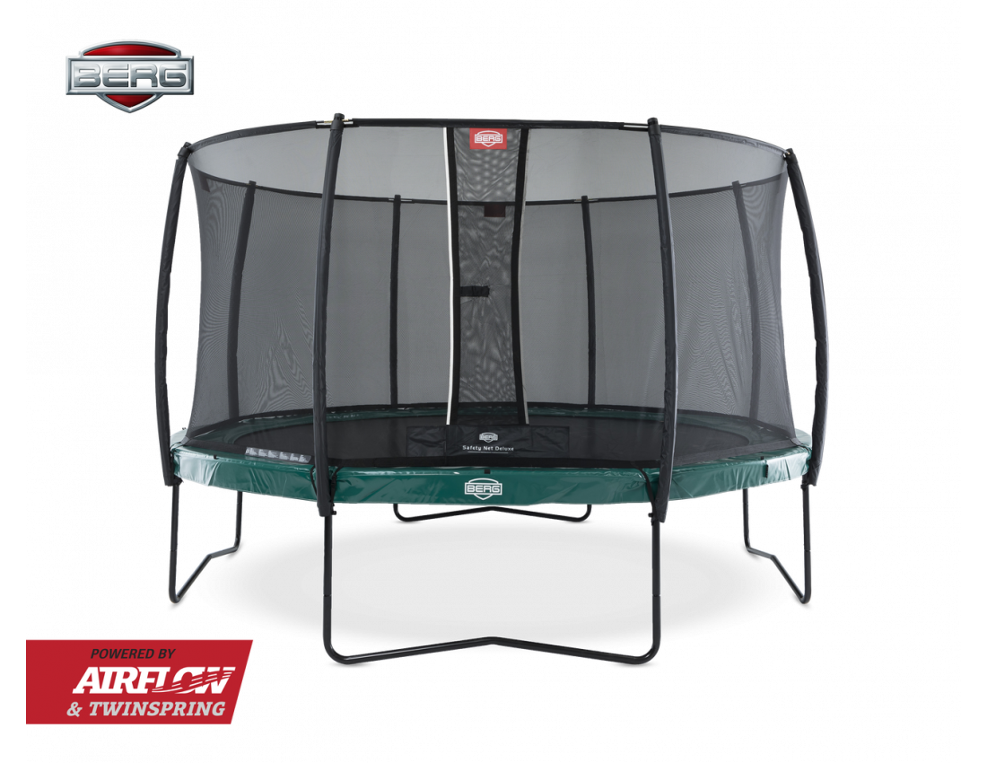 Батут Berg Elite Green 380 с защитной сеткой Safety Net Deluxe