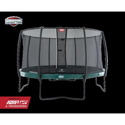 Батут Berg Elite Grey 430 см с защитной сеткой Safety Net Deluxe