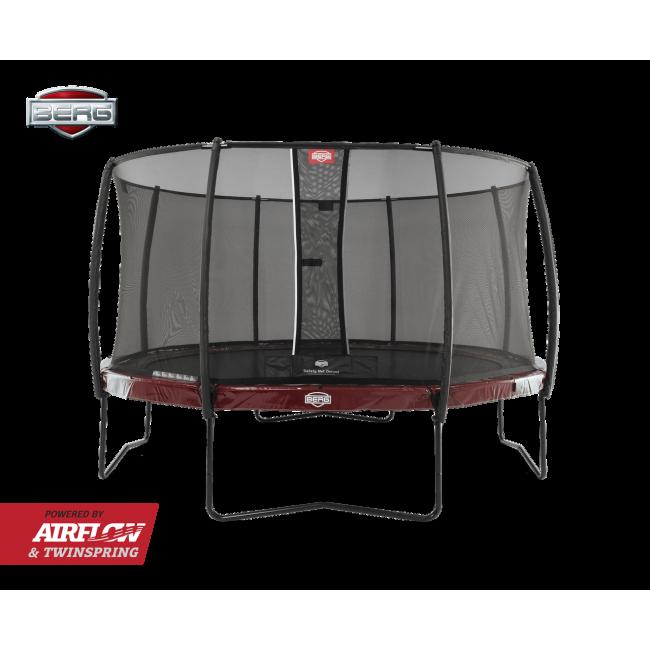 Батут Berg Elite Red 380 см с защитной сеткой Safety Net Deluxe