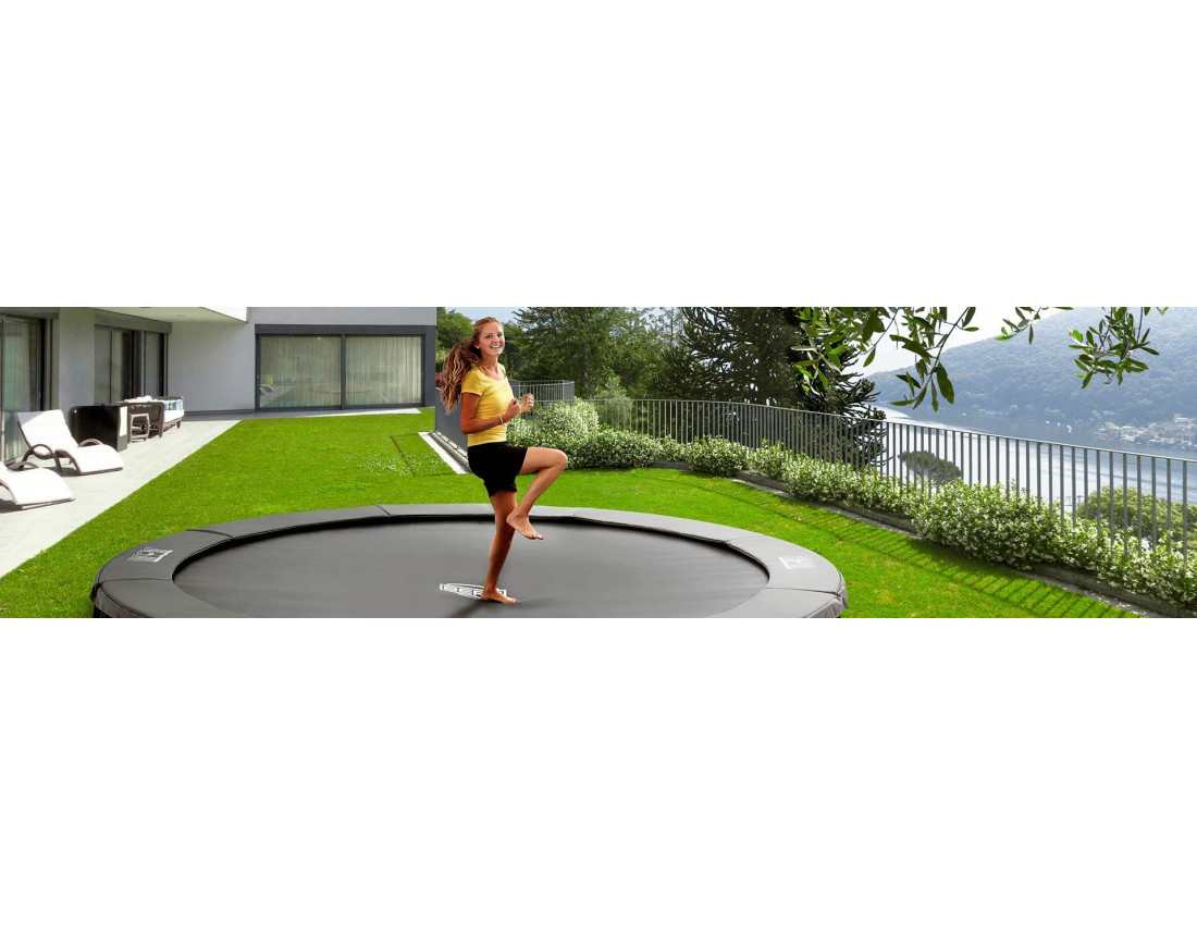 Батут Berg InGround Champion Grey 330 см с защитной сеткой Safety Net Comfort (InGround)