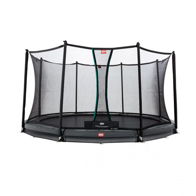 Батут Berg InGround Champion Grey 430 см с защитной сеткой Safety Net Comfort (InGround)
