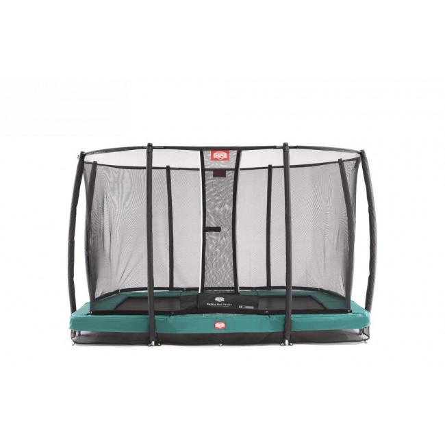 Батут BERG InGround EazyFit Green с защитной сеткой Safety Net Deluxe EazyFit