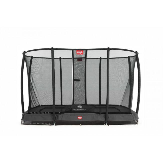 Батут BERG InGround EazyFit Grey с защитной сеткой Safety Net Deluxe EazyFit