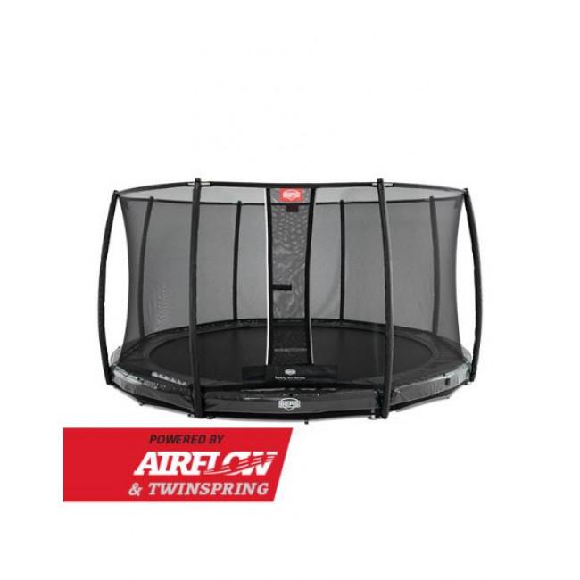 Батут Berg InGround Elite Grey 330 см с защитной сеткой Safety Net Deluxe
