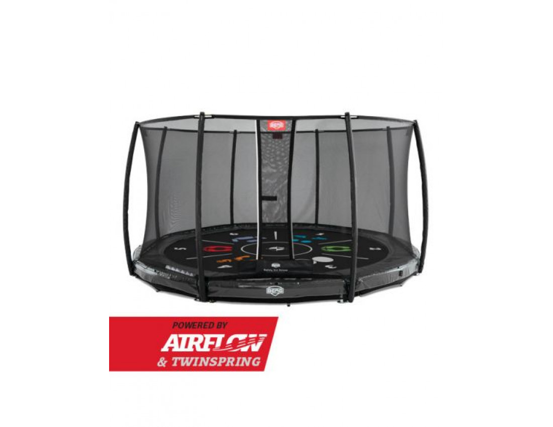 Батут Berg InGround Elite Red 380 см с защитной сеткой Safety Net Deluxe