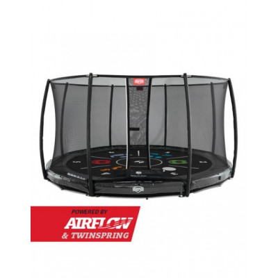 Батут Berg InGround Elite Grey 330 см с защитной сеткой Safety Net Deluxe