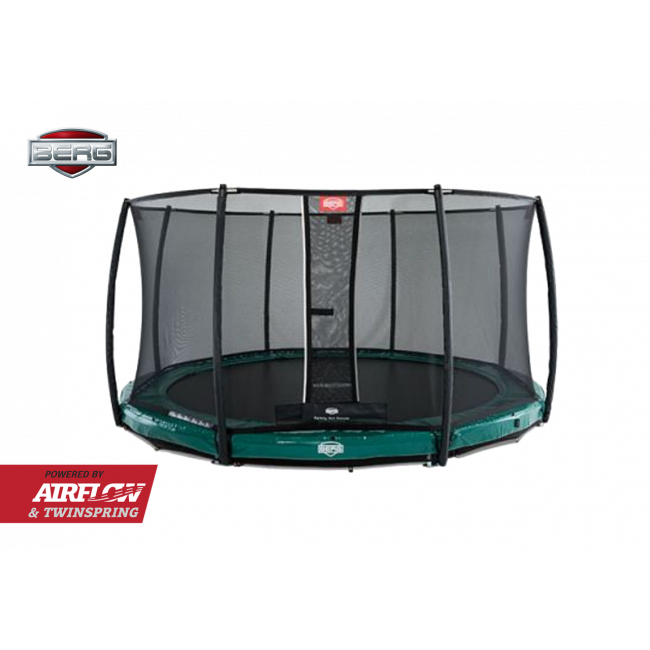 Батут Berg InGround Elite Green 330 с защитной сеткой Safety Net Deluxe