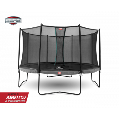 Батут Berg Champion Tatoo 430 см с защитной сеткой Safety Net Deluxe