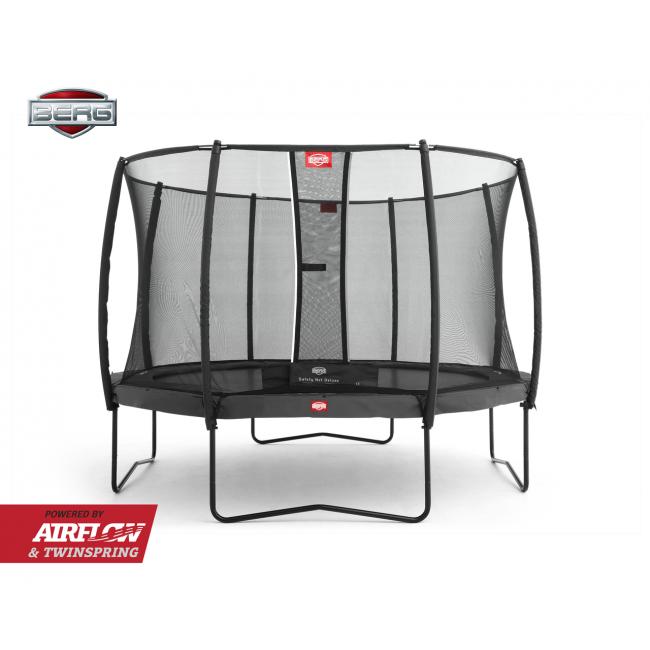 Батут Berg Champion Grey 330 см с защитной сеткой Safety Net Deluxe