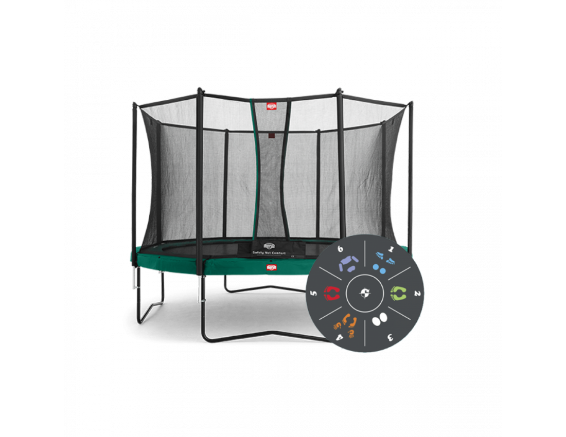 Батут Berg Favorit 380 см с защитной сеткой Safety Net Comfort