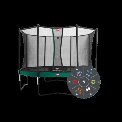 Батут Berg Favorit Tatoo 430 см с защитной сеткой Safety Net Comfort