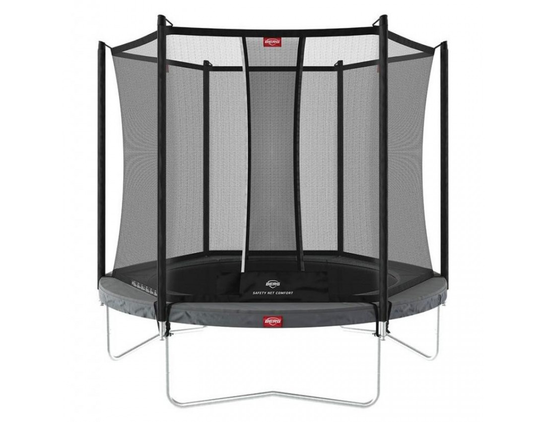 Батут BERG Favorit Regular 270 Grey с сеткой Safety Net Comfort
