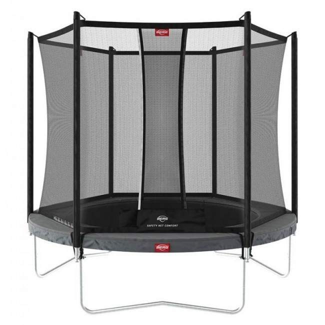 Батут BERG Favorit Regular 200 Grey с сеткой Safety Net Comfort