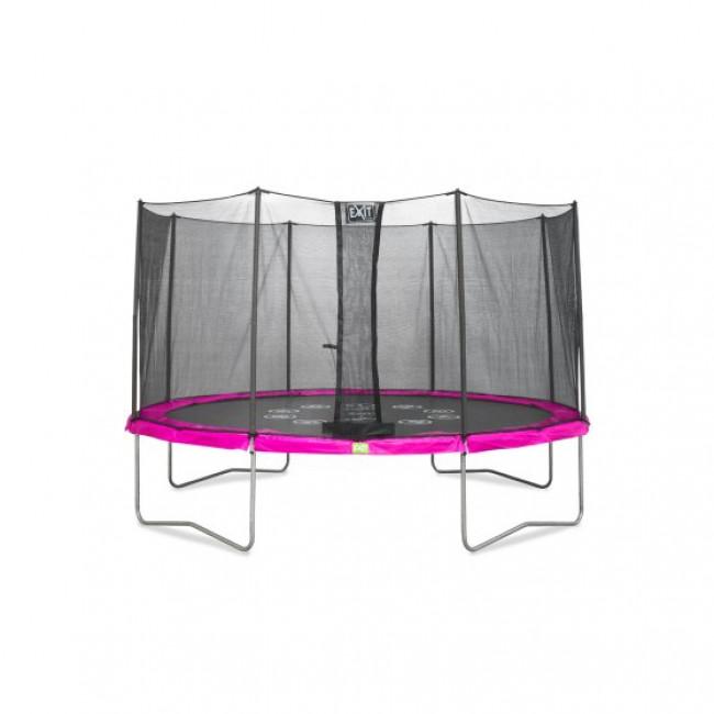 Батут EXIT Twist 366 см розово-серый