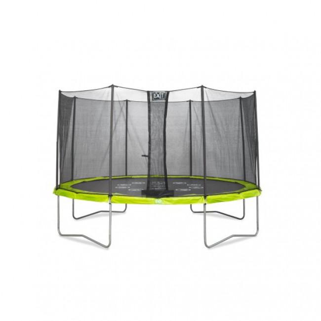 Батут EXIT Twist 427 см зелено-серый