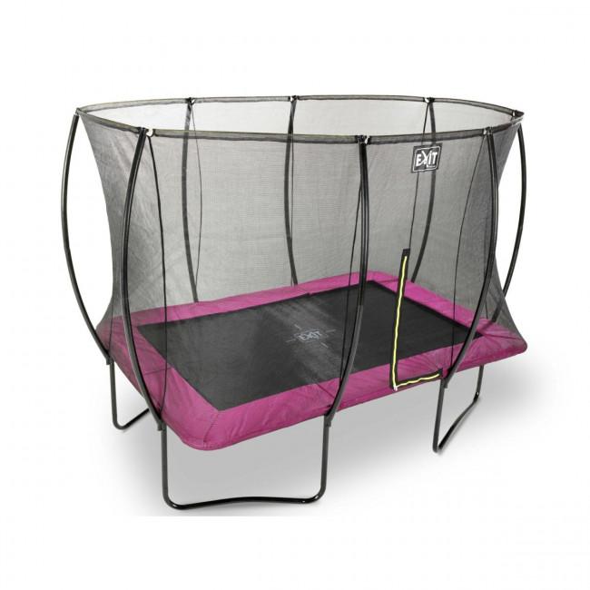 Батут EXIT Silhouette прямоугольный 244x366см розовый