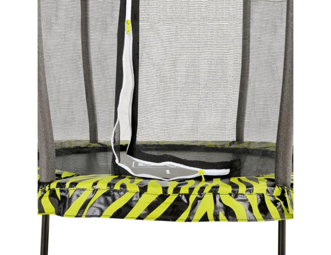 Батут детский EXIT Tiggy 140 см серый с внутренней сеткой