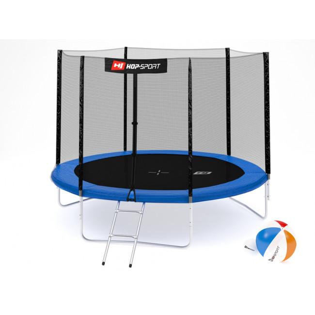 Батут Hop-Sport 10ft (305cm) blue с внешней сеткой 3 ноги