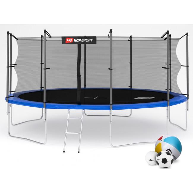 Батут Hop-Sport 16ft (488cm) blue с внутренней сеткой