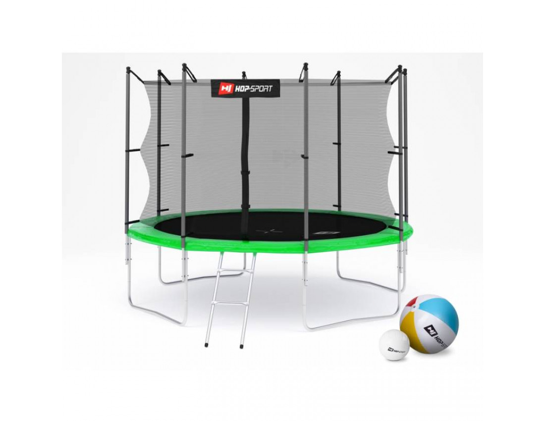 Батут Hop-Sport 10ft (305cm) green с внутренней сеткой 4 ноги