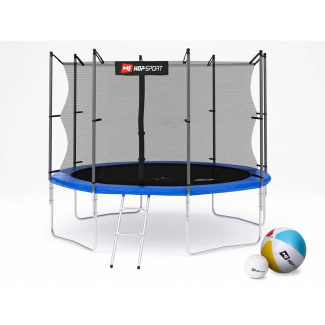 Батут Hop-Sport 10ft (305cm) blue с внутренней сеткой 4 ноги