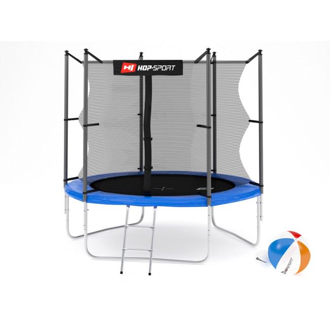 Батут Hop-Sport 8ft (244cm) blue с внутренней сеткой