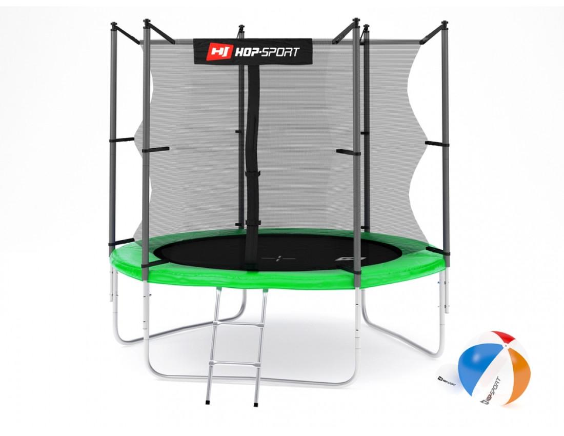 Батут Hop-Sport 10ft (305cm) blue с внутренней сеткой 3 ноги