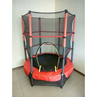Батут Let's Go детский 140 см LS1 с защитной сеткой