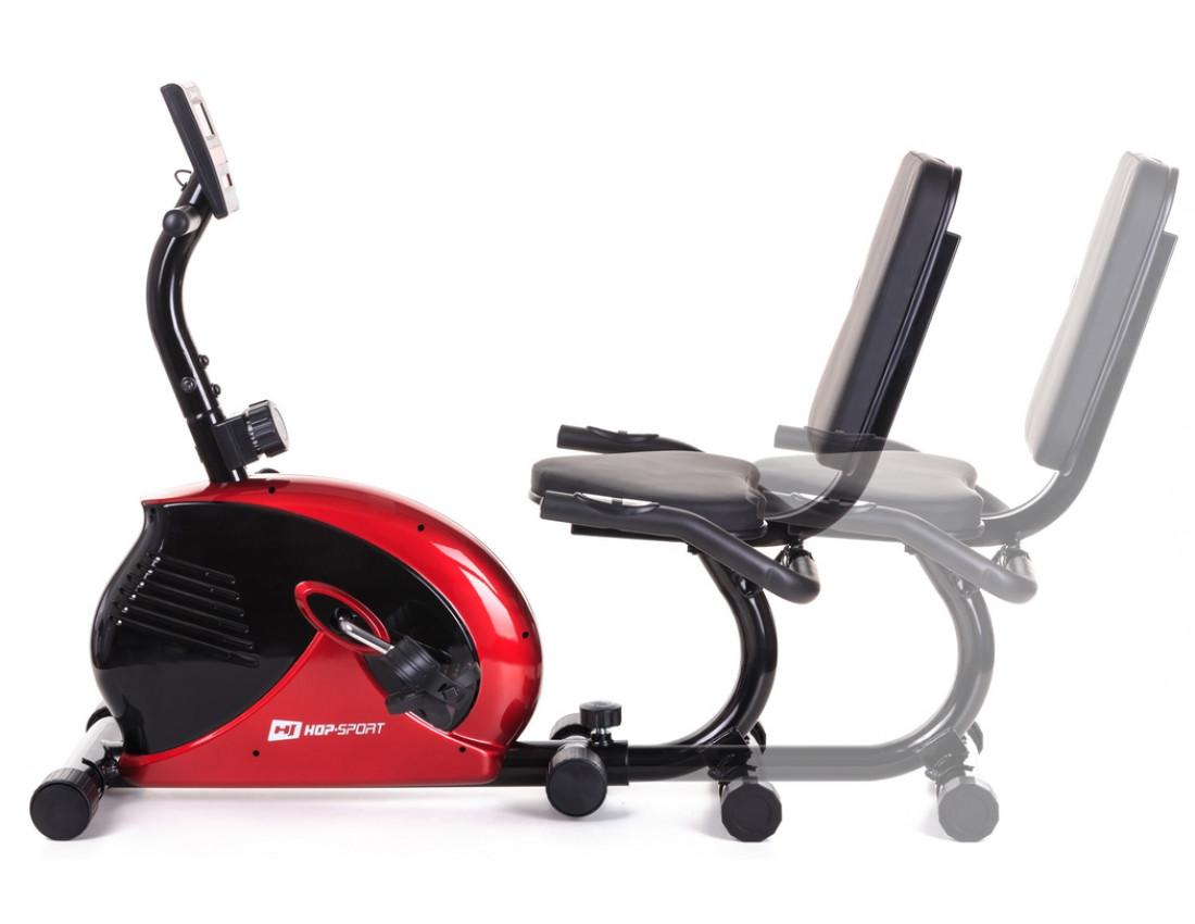 Горизонтальный велотренажер Hop-Sport HS-65R Veiron black/white