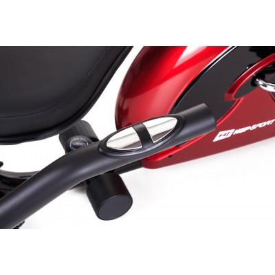 Горизонтальный велотренажер Hop-Sport HS-65R VEIRON red/black