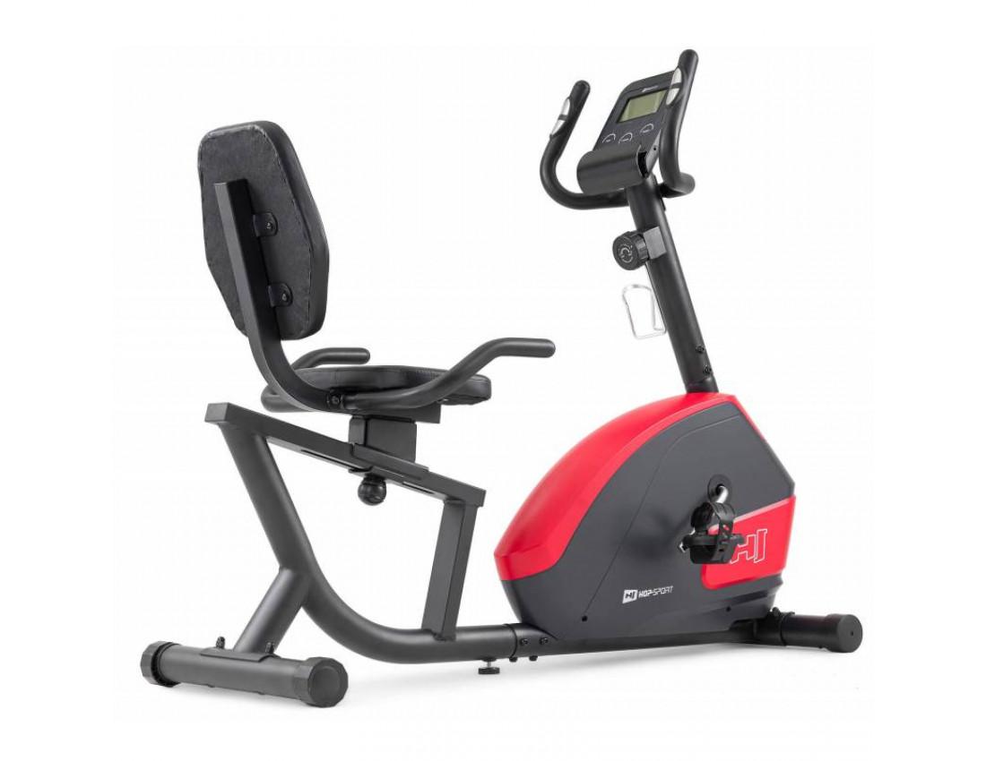 Горизонтальный велотренажер Hop-Sport HS-035L Solo красный