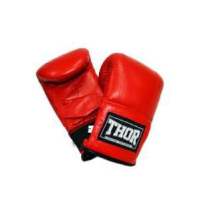 Снарядные перчатки Thor 606 (Leather) RED M