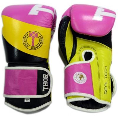 Боксерские перчатки Thor King Power PU Pink 10 oz