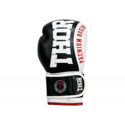 Боксерские перчатки Thor Shark Leather 16 oz Green