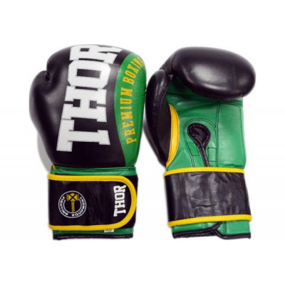 Боксерские перчатки Thor Shark PU 10 oz Green