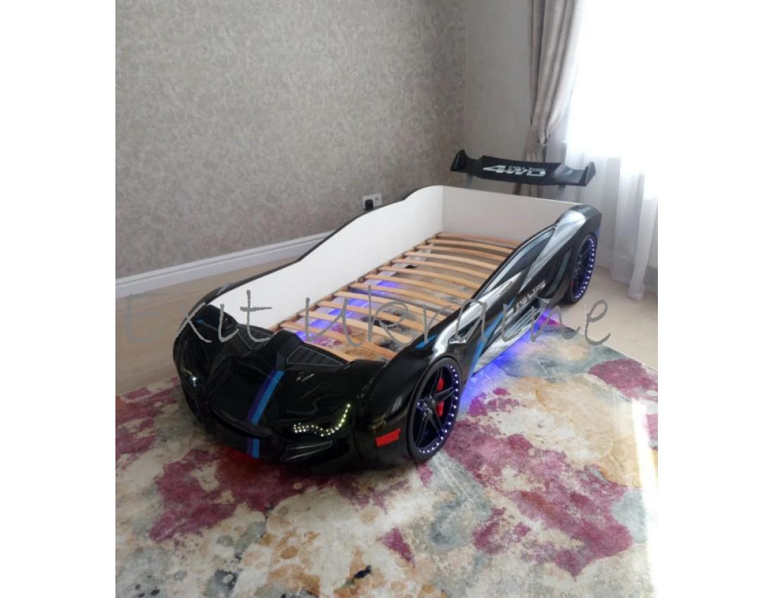 Кровать в виде машины BMW белая