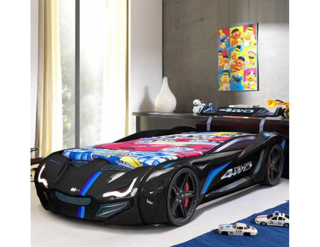 Кровать в виде машины BMW чёрная