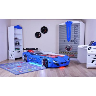 Кровать в виде машины BMW синяя