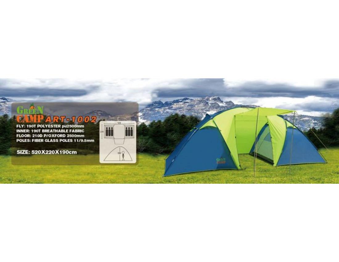 Палатка шестиместная GreenCamp 1002