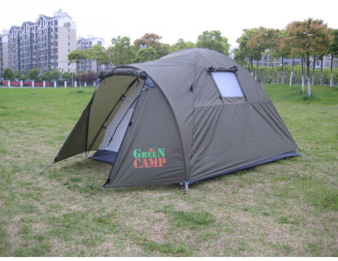 Палатка двухместная GreenCamp 3006