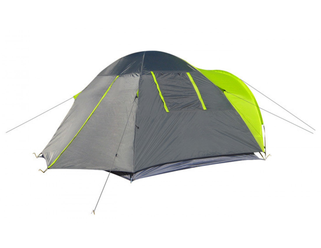 Палатка 3-х местная GreenCamp 1011 два входа
