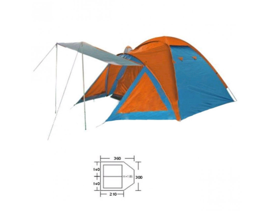 Палатка четырехместная Mountain Outdoor BL-1009